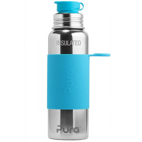 BIG MOUTH™ Sport 650ml Vacuum Insulated Bottle with Sleeve aqua