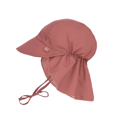 Sun Protection Flap Hat 19-36 Months -  Rosewood