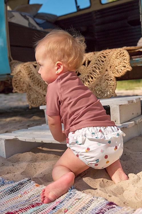 Swim Diaper Girls 3-6 Months - Spotted White