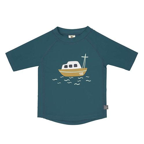 Short Sleeve Rashguard 7-12 Months - Boat Blue