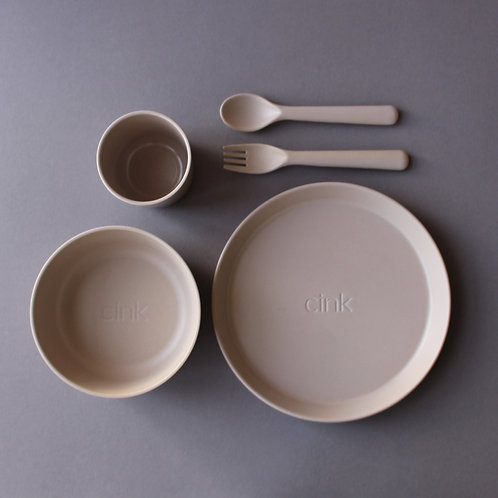 Bamboo Dinnerware Set Toddler - Fog