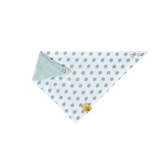 Muslin Bandana Little Chums Stars mint
