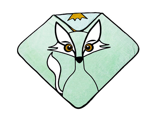 Hooded Towel - Fox green