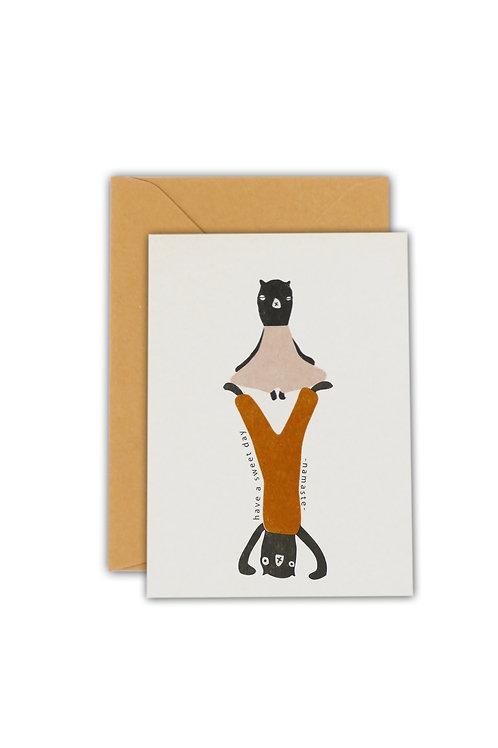 Giftcards (7,5x10,5cm) - Yogacats Namaste
