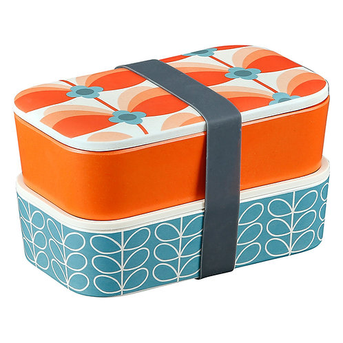 Bamboo 2 Tier Lunch Box - Butterfly Stem Bubblegum