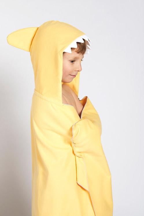 Autonomy hooded towel Shark Mini Yellow