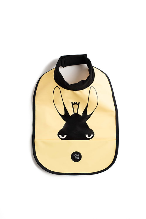 High neck bib - Moose yellow