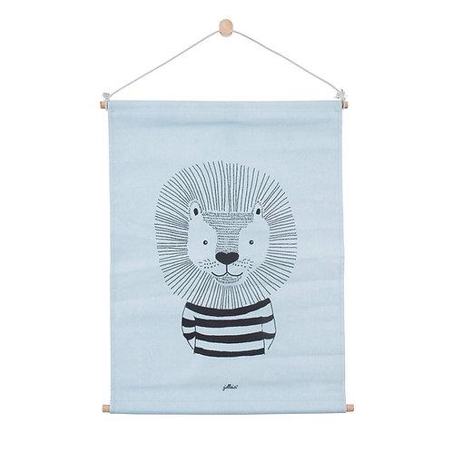 Poster 42x60 cm canvas Wild animals soft blue