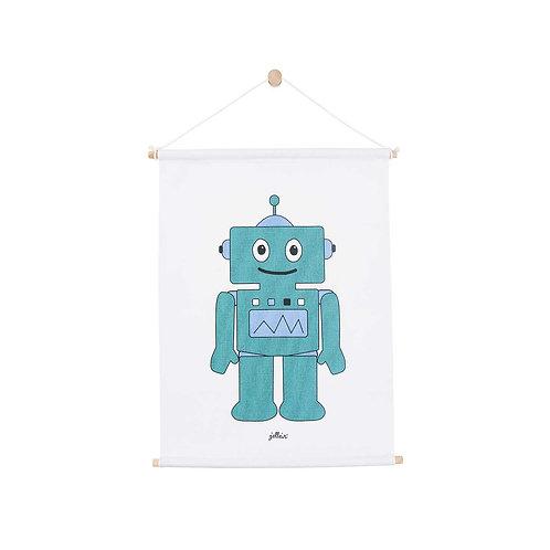 Poster 42x60 cm Robot teal