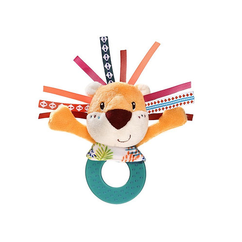 Fabric rattle with Jack's teething ring