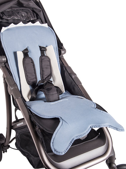 Slate Blue Fish tail stroller pad