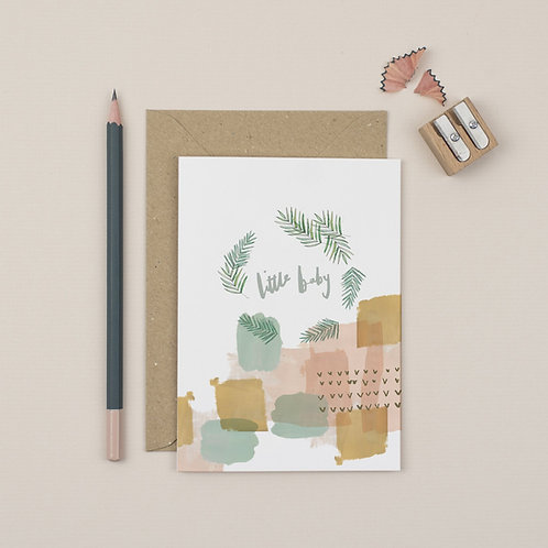 Luxury Little Baby New Baby card