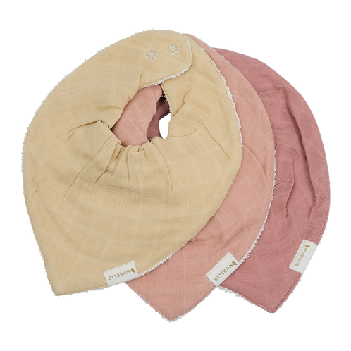 Bandana bib - Pastel Flower - 3 pack