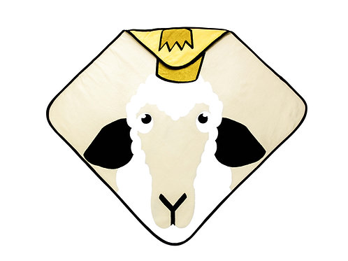 Hooded Towel - Sheep yellow
