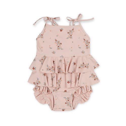 Manuca Frill Swimsuit 12 months - Nostalgie Blush