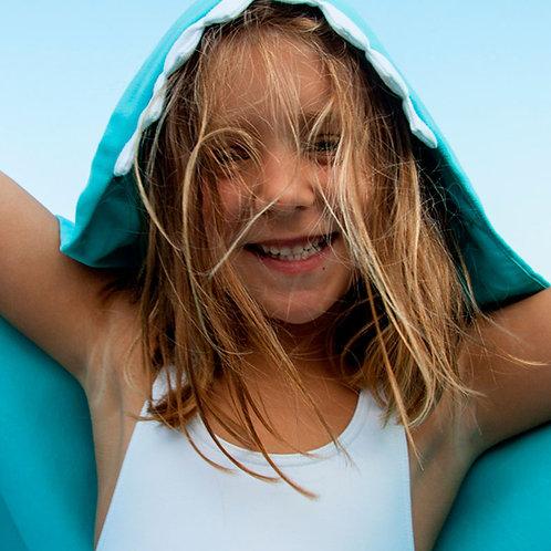 Autonomy hooded towel Shark Mini Blue