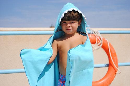 Autonomy hooded towel Shark Maxi Blue