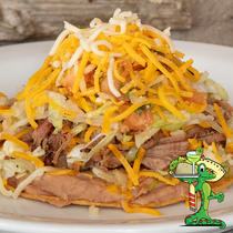 Meat Topped Tostada