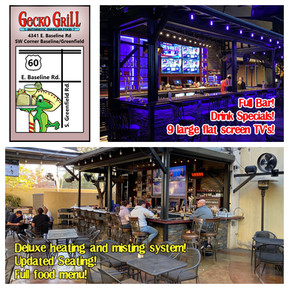 New patio bar open at gecko gilbert!