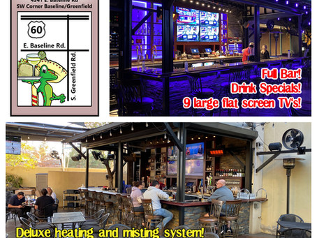 New patio bar open at gecko gilbert!