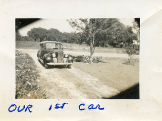 Martha & Lloyd Ahlschwede's First Car