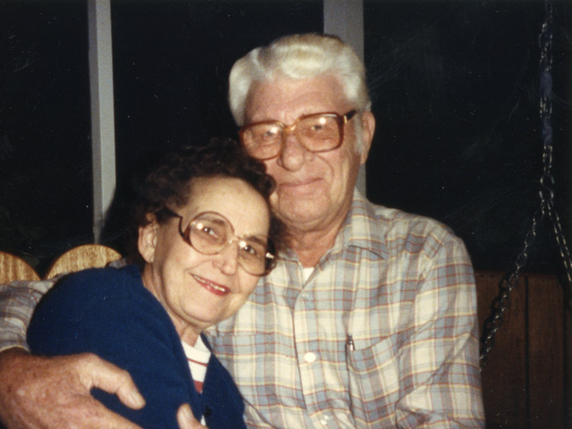 "Martha & Lloyd Ahlschwede on the ""Back 40"""