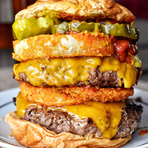 FOOD PORN DOUBLE CHEESE BURGER