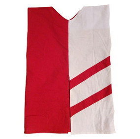 Two-tone tunic red / white