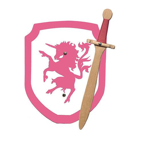 Unicorn Knight sword and shield