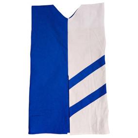 Two tone tunic blue / white