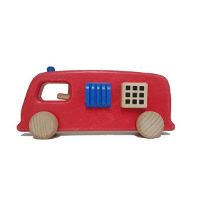 Fire engine toy, wooden wonders, educational wooden toys,role play scenarios, allwood