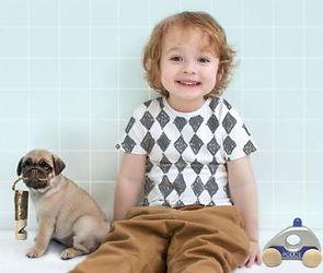 Boy with puppy whiatle.JPG