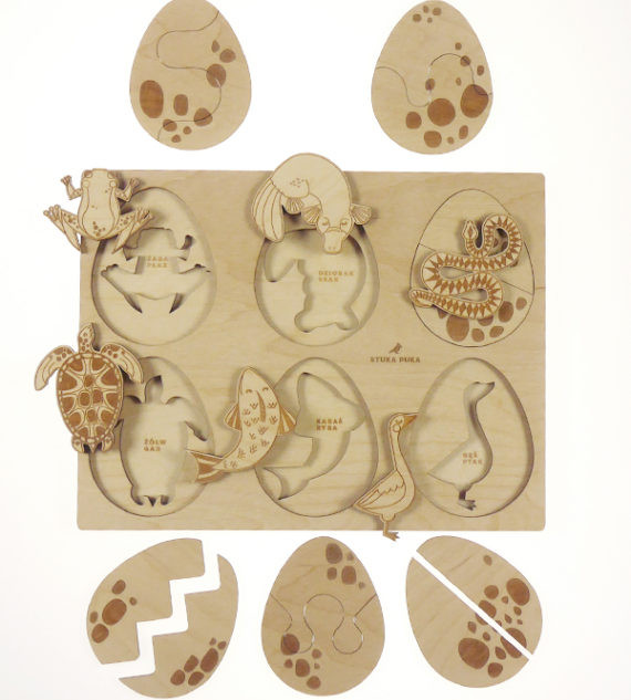 Animals that lay eggs tray puzzle