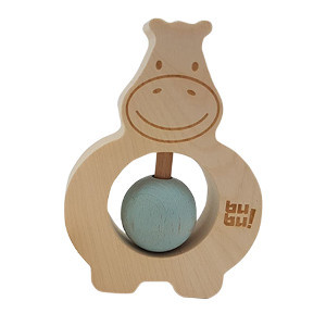 Hippo rattle in blue