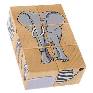 6 Cube wooden block puzzle on safari