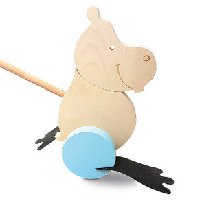 Hippo pushalong in blue