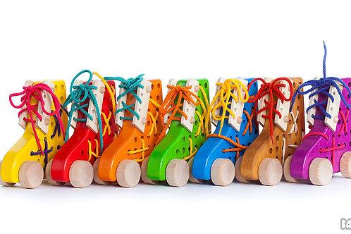 Bajo wooden toys, wooden toys Montessori, baby sensory toys,Gruffalo figures,lacing toys, Gruffalo toys,Gruffalo figurines