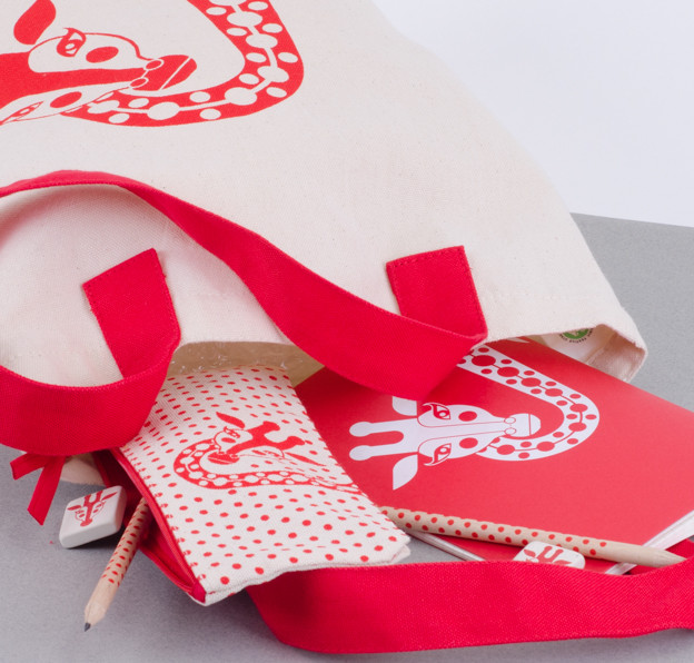 Red Stationary in the Giraffe theme