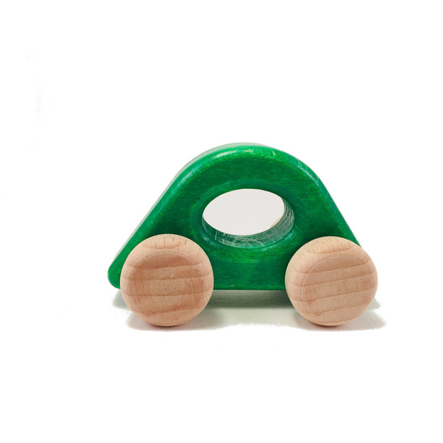 Wooden City Car in green