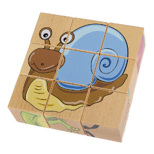 9 cube wooden puzzle