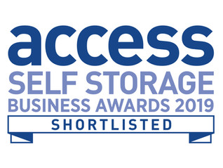 Shortlisted in the Access Storage Business Awards 2019