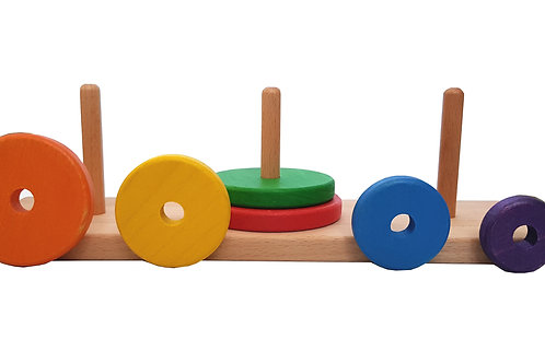 Towers of Hanoi, Hanoi towers, Natural wood, myriad toys, wooden wonders, nature baby, toy kingdom, allwood