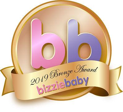 Logo for BizzieBaby 2019 award