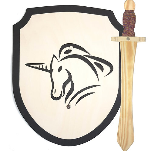 gifts with unicorns,unicorn gifts for girls,toy roman shield,wooden shield,wood shield,toy shield,shield toy,unicorn shield