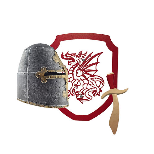 Great Dragon and Dagger toy sword and shield and helmet
