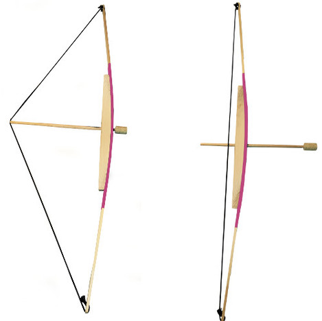 Bow and 3 arrows pink ss