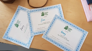 Certificates for the winners