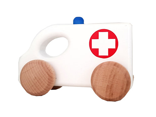Ambulance toy,ambulance toys, Wheeled toys, wooden car toys, woody cars,wooden toddler toys, toy cars for kids,toy cars