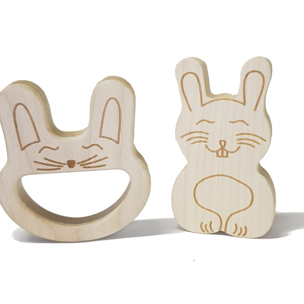 Rabbit toy and teether