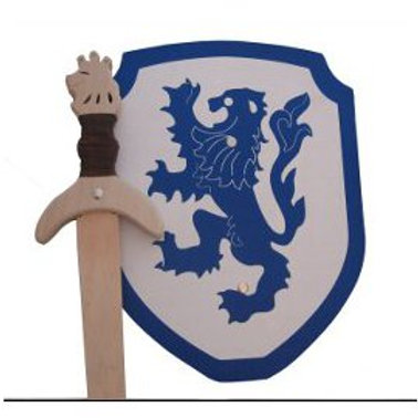 Wooden Lion Sword and Shield